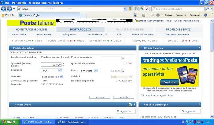 8b0812c362 Trading Online Bancoposta opinioni - Guida al Trading Online